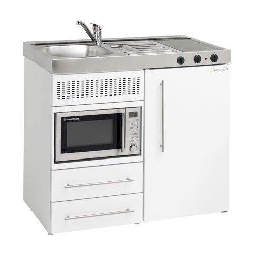 Kitchenettes Mini Kitchens: 1000mm Silver Mini Kitchen With Hobs