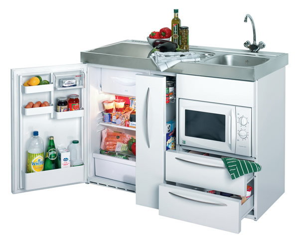 1200mm Commercial Silver Mini Kitchen without Hob