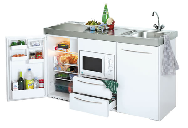 Silver 1500mm Commercial Kitchenette With Stainless Work Top